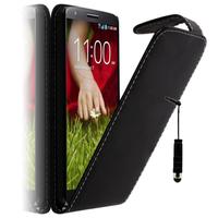 LG G2 Mini LTE Dual Sim D618 D620 D620R D620K: Accessoire Etui Housse Coque Pochette simili cuir + mini Stylet - NOIR