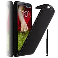 LG G2 Mini LTE Dual Sim D618 D620 D620R D620K: Accessoire Etui Housse Coque Pochette simili cuir + Stylet - NOIR