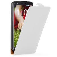 LG G2 Mini LTE Dual Sim D618 D620 D620R D620K: Accessoire Housse coque etui cuir fine slim - BLANC