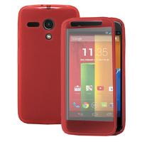 Motorola Moto G X1032/ Forte/ Grip Shell/ LTE 4G: Accessoire Coque Etui Housse Pochette silicone gel Portefeuille Livre rabat - ROSE