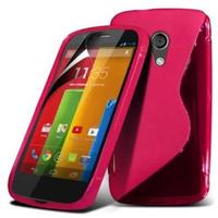 Motorola Moto G X1032/ Forte/ Grip Shell/ LTE 4G: Accessoire Housse Etui Pochette Coque S silicone gel - ROSE