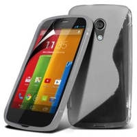 Motorola Moto G X1032/ Forte/ Grip Shell/ LTE 4G: Accessoire Housse Etui Pochette Coque S silicone gel - TRANSPARENT