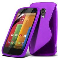 Motorola Moto G X1032/ Forte/ Grip Shell/ LTE 4G: Accessoire Housse Etui Pochette Coque S silicone gel - VIOLET