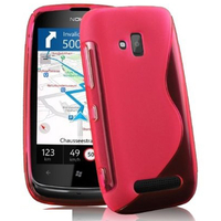 Nokia Lumia 610: Accessoire Housse Etui Pochette Coque S silicone gel - ROSE