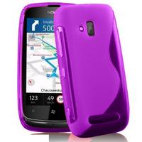 Nokia Lumia 610: Accessoire Housse Etui Pochette Coque S silicone gel - VIOLET