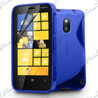 Nokia Lumia 620: Accessoire Housse Etui Pochette Coque S silicone gel - BLEU