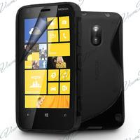 Nokia Lumia 620: Accessoire Housse Etui Pochette Coque S silicone gel - NOIR