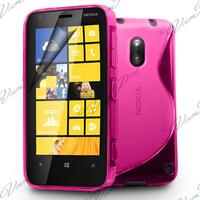 Nokia Lumia 620: Accessoire Housse Etui Pochette Coque S silicone gel - ROSE