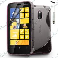Nokia Lumia 620: Accessoire Housse Etui Pochette Coque S silicone gel + mini Stylet - TRANSPARENT