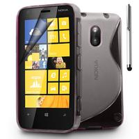 Nokia Lumia 620: Accessoire Housse Etui Pochette Coque S silicone gel + Stylet - TRANSPARENT