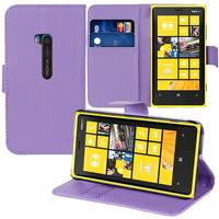 Nokia Lumia 920: Accessoire Etui portefeuille Livre Housse Coque Pochette support vidéo cuir PU - VIOLET