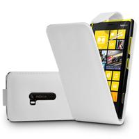Nokia Lumia 920: Accessoire Etui Housse Coque Pochette simili cuir - BLANC