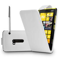 Nokia Lumia 920: Accessoire Etui Housse Coque Pochette simili cuir + Stylet - BLANC