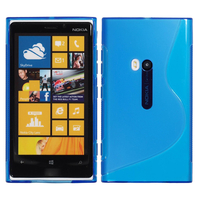 Nokia Lumia 920: Accessoire Housse Etui Pochette Coque S silicone gel - BLEU