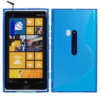 Nokia Lumia 920: Accessoire Housse Etui Pochette Coque S silicone gel + mini Stylet - BLEU