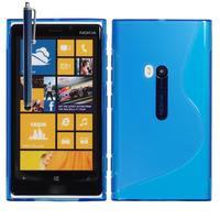 Nokia Lumia 920: Accessoire Housse Etui Pochette Coque S silicone gel + Stylet - BLEU