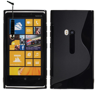 Nokia Lumia 920: Accessoire Housse Etui Pochette Coque S silicone gel + mini Stylet - NOIR