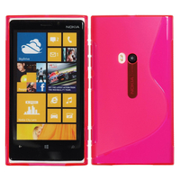 Nokia Lumia 920: Accessoire Housse Etui Pochette Coque S silicone gel - ROSE