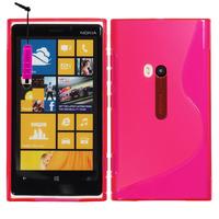Nokia Lumia 920: Accessoire Housse Etui Pochette Coque S silicone gel + mini Stylet - ROSE