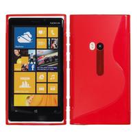 Nokia Lumia 920: Accessoire Housse Etui Pochette Coque S silicone gel - ROUGE