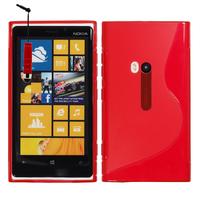 Nokia Lumia 920: Accessoire Housse Etui Pochette Coque S silicone gel + mini Stylet - ROUGE