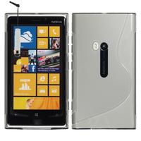 Nokia Lumia 920: Accessoire Housse Etui Pochette Coque S silicone gel + mini Stylet - TRANSPARENT