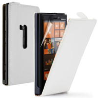 Nokia Lumia 920: Accessoire Housse coque etui cuir fine slim - BLANC