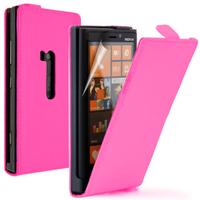 Nokia Lumia 920: Accessoire Housse coque etui cuir fine slim - ROSE