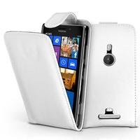 Nokia Lumia 925: Accessoire Etui Housse Coque Pochette simili cuir - BLANC