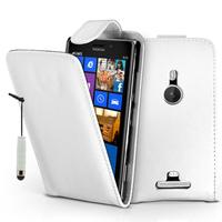 Nokia Lumia 925: Accessoire Etui Housse Coque Pochette simili cuir + mini Stylet - BLANC