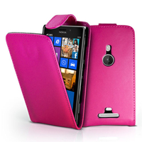 Nokia Lumia 925: Accessoire Etui Housse Coque Pochette simili cuir - ROSE