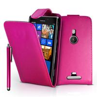 Nokia Lumia 925: Accessoire Etui Housse Coque Pochette simili cuir + Stylet - ROSE