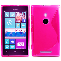 Nokia Lumia 925: Accessoire Housse Etui Pochette Coque S silicone gel - ROSE