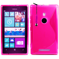 Nokia Lumia 925: Accessoire Housse Etui Pochette Coque S silicone gel + mini Stylet - ROSE