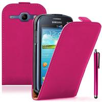 Samsung Galaxy Core LTE 4G SM-G386F: Accessoire Housse coque etui cuir fine slim + Stylet - ROSE