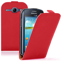 Samsung Galaxy Core LTE 4G SM-G386F: Accessoire Housse coque etui cuir fine slim - ROUGE