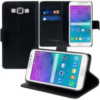Samsung Galaxy Grand Max SM-G720N0: Accessoire Etui portefeuille Livre Housse Coque Pochette support vidéo cuir PU - NOIR
