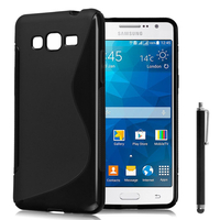Samsung Galaxy Grand Max SM-G720N0: Accessoire Housse Etui Pochette Coque S silicone gel + Stylet - NOIR