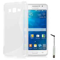 Samsung Galaxy Grand Max SM-G720N0: Accessoire Housse Etui Pochette Coque S silicone gel + mini Stylet - TRANSPARENT