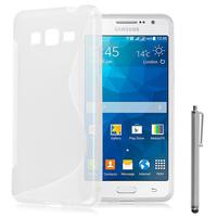 Samsung Galaxy Grand Max SM-G720N0: Accessoire Housse Etui Pochette Coque S silicone gel + Stylet - TRANSPARENT