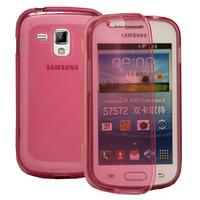 Samsung Galaxy Trend S7560/ Galaxy S Duos S7562: Accessoire Coque Etui Housse Pochette silicone gel Portefeuille Livre rabat - ROSE