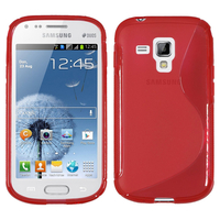 Samsung Galaxy Trend S7560/ Galaxy S Duos S7562: Accessoire Housse Etui Pochette Coque S silicone gel - ROUGE