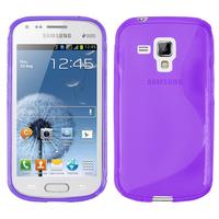 Samsung Galaxy Trend S7560/ Galaxy S Duos S7562: Accessoire Housse Etui Pochette Coque S silicone gel - VIOLET
