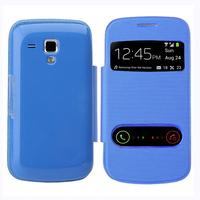 Samsung Galaxy Trend S7560/ Galaxy S Duos S7562: Accessoire Coque Etui Housse Pochette Plastique View Case - BLEU