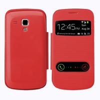 Samsung Galaxy Trend S7560/ Galaxy S Duos S7562: Accessoire Coque Etui Housse Pochette Plastique View Case - ROUGE