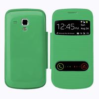Samsung Galaxy Trend S7560/ Galaxy S Duos S7562: Accessoire Coque Etui Housse Pochette Plastique View Case - VERT