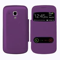 Samsung Galaxy Trend S7560/ Galaxy S Duos S7562: Accessoire Coque Etui Housse Pochette Plastique View Case - VIOLET