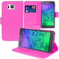 Samsung Galaxy Alpha SM-G850F/ Galaxy Alfa/ Alpha (S801)/ G850FQ G850Y G850A G850T G850M G850W G8508S: Accessoire Etui portefeuille Livre Housse Coque Pochette support vidéo cuir PU - ROSE