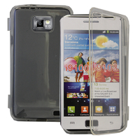 Samsung Galaxy S2 i9100/ i9105G/ Plus: Accessoire Coque Etui Housse Pochette silicone gel Portefeuille Livre rabat - TRANSPARENT