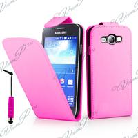 Samsung Galaxy S3 mini i8190/ i8200 VE: Accessoire Etui Housse Coque Pochette simili cuir + mini Stylet - ROSE-PALE